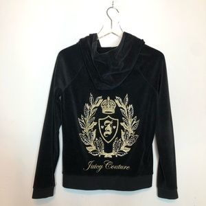 Juicy Couture Black Track Jacket  Size Small